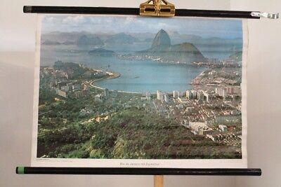 Schulwandkarte Role Map Wall Chart America Rio De Janeiro Sugar Loaf Westermann