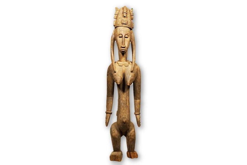 """Bamana/Bambara Statue 35.5"""" - Mali"""