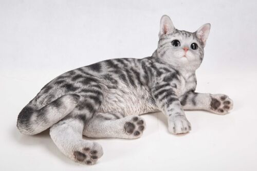 NEW American Shorthair Cat Figurine - Life Like Figurine Statue Home / Garden