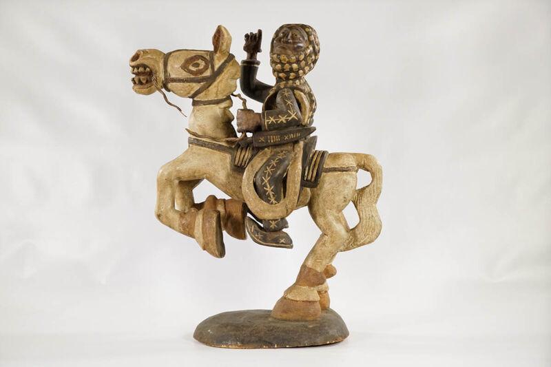 "Stunning Old Bamun Equestrian Figure 23""- Cameroon - African Art"