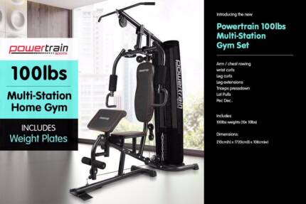 Powertrain Multi Station Gym set Exercise Equipment Bench Press