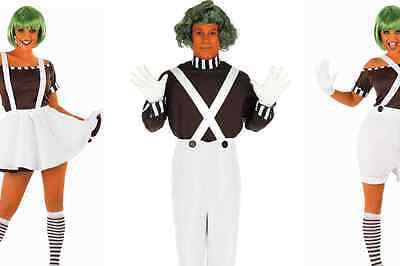 Oompa Loompa Costumes Willy Wonka - Mens Womens Fancy Dress Book Week - Willy Wonka Oompa Loompa Costumes