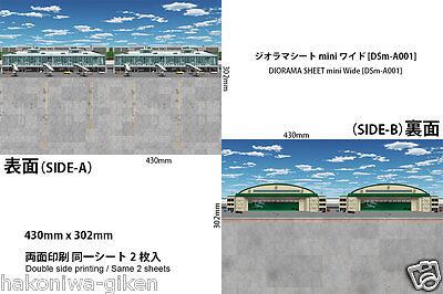 [HAKONIWAGIKEN DSm-A001 430x302mm] Diorama Sheet mini-W Apron Airport 1:144,300