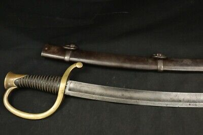 French Army M1829 Light Artillery Engraved Sword / Sabre #789  & Scabbard #784
