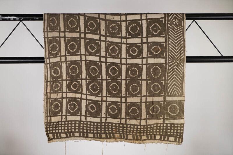 "Vintage Bamana Mud Cloth 57"" x 30.5"" - Mali - African Art"