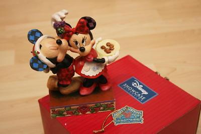 Disney Showcase Collection Enesco Under The Mistletoe Minnie Micky Mickey Maus