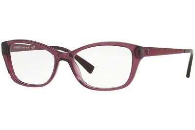 Versace 3236 5220 Purple Brille Glasses Eyeglasses Frames Size 52