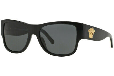 Authentic Versace VE4275 - GB1/87 Sunglasses Black / Grey  *NEW* 58mm
