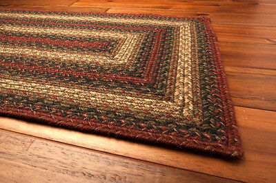 Homee Vancouver Hudson Jute Braided Area Rug Country Home Primitive Decor