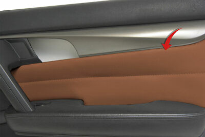 Insert Door Panel Cover Skin PVC Synthetic Leather for Acura TL 2009-2014 Umber