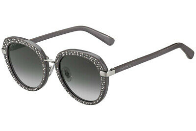 Jimmy Choo MORI/S 9RQ Women's Grey Silver Crystal Accent 52mm (Jimmy Choo Crystal Sunglasses)