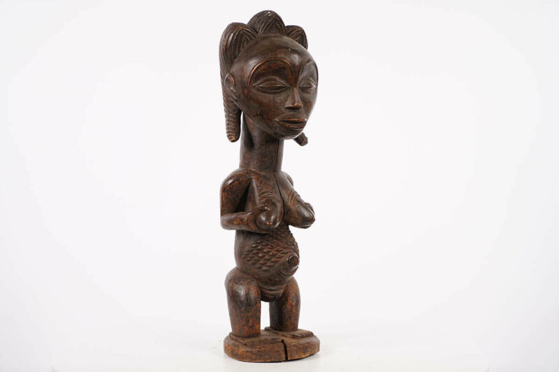 """Gorgeous Female Luba Statue 18.5"""" - DR Congo - African Art"""