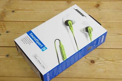 Bose - SoundSport In-Ear Headphones (iOS) - Energy Green / NEW