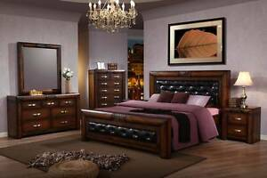 new MERU bed frame bedroom chunky HARDWOOD finance EZI-PAY $15p/w Bundall Gold Coast City Preview