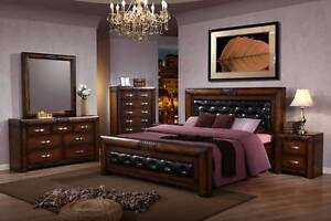 new MERU bed frame bedroom chunky HARDWOOD pay NO INTEREST EVER Bundall Gold Coast City Preview