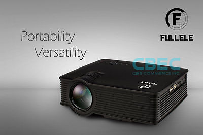 Full HD 1080P Home Theater LED Mini Multimedia Projector with Free Headset