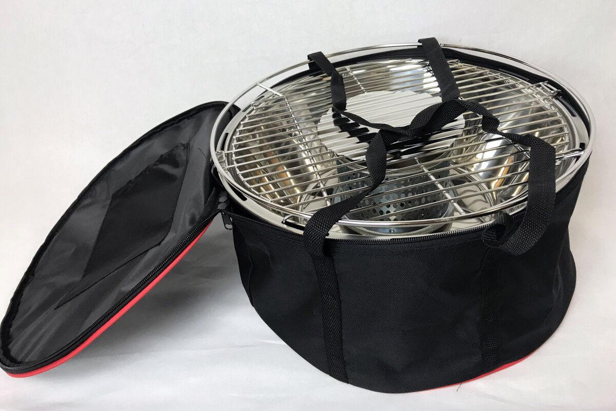 Holzkohlegrill mit Gebläse BBQ time tragbarer Holzkohlengrill Ventilator Edelsta