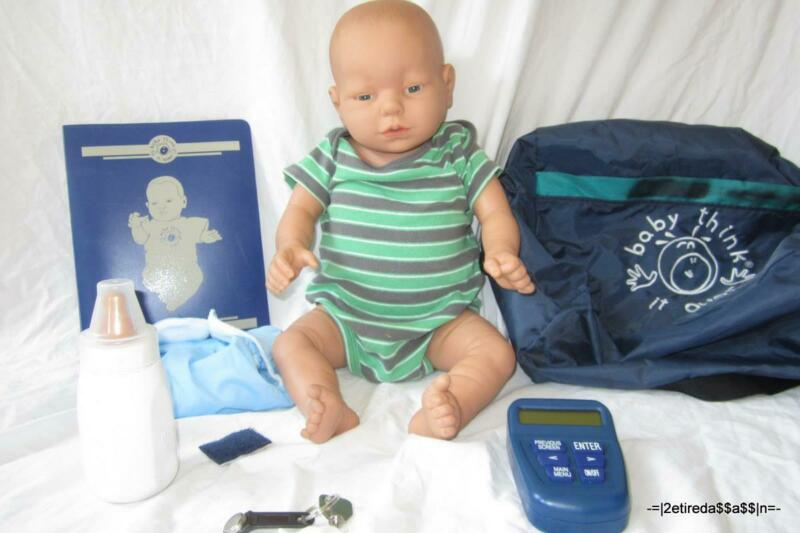 RealCare Baby Think It Over Doll G6 White Caucasian Boy Male + Programmer +Extra