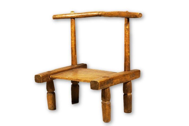 "Baule African Chair- 19.5"" - Ivory Coast"