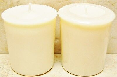 Soy Wax Votive - 4 Pack Soy Votive Candles Unscented, Natural color, 15+ Hrs Burn Time