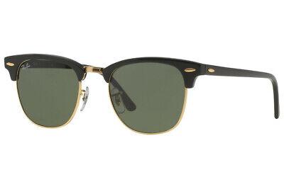 Ray-ban Sonnenbrille Clubmaster Klassisch RB3016 W0365 49-21 Black G15 Neu Echt