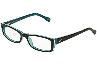 Dolce Gabbana D&G 1212 1870 Eyeglasses Glasses Black on Crystal Blue 50-16-135