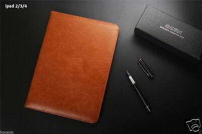 Flip Case For Apple iPad 2/3/4 Pu Leather Magnetic Cover Wake sleep , used for sale  JAIPUR