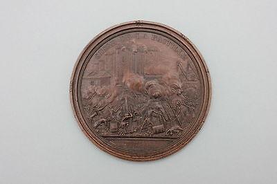 Einseitige Kupfer-Medaille auf die Erstürmung der Bastille Paris 1789