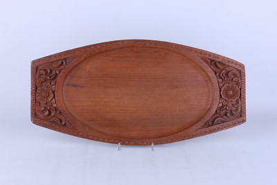 Holz Tablett Serviertablett  mit Schnitzarbeit