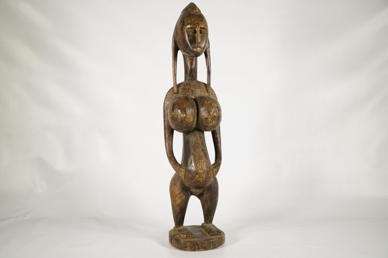 "Beautiful Bamana Maternity Figure 29"" - Mali- African Art"