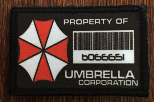 Resident Evil Property of Umbrella Corp Morale Patch Tactical Military Flag USA