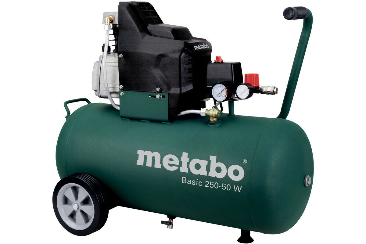Metabo Basic 250-50 W Kompressor 8 BAR, 50 Liter Kessel, 601534000 [2.Wahl]