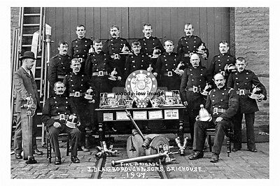 pt5020 - Brighouse , Fire Brigade 1907 J Blakeborough & Sons Yorkshire photo 6x4
