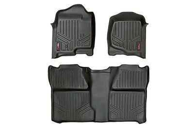 ROUGH COUNTRY FLOOR MATS FRONT/REAR CHEVY GMC 1500 2500HD 3500HD CREW CAB 07-13