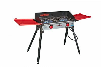 Camp Chef Pro 60X - 2 Burner Stove, Black and Red, PRO60X Base Camp Stove