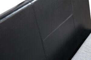 Del King Single PU Leather Frame Black