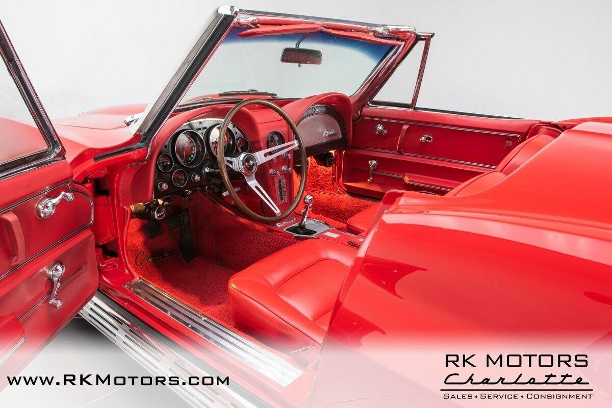 1965 Red Chevrolet Corvette   | C2 Corvette Photo 3