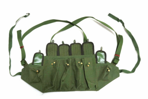 Repro Vietnam War Chinese Army Canvas Type 81 Chest Rig Ammo Mag Pouch