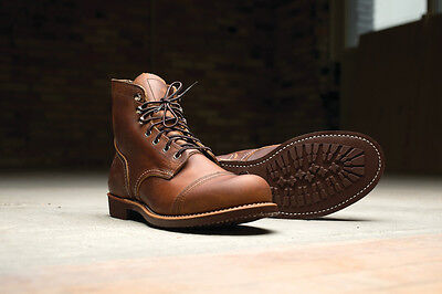 red wing heritage Iron Ranger Model 8085 COPPER MENS BOOTS MADE IN USA US 8085-
