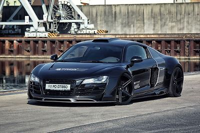 PRIOR DESIGN AUDI R8 GT WIDE BODY KIT HOOD FRONT/REAR BUMPERS SPOILER DIFFUSER