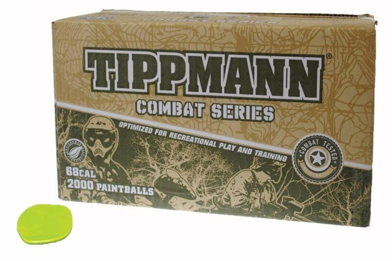 TIPPMANN COMBAT SERIES Paintballs Case of 2000 Rounds - GREEN FILL