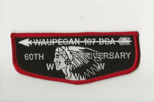 WAUPECAN OA LODGE 197 / 60th ANNIVERSARY  flap - Boy Scout BSA A132/7-2
