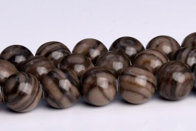 6MM Natural Coffee Brown Swirl Jasper Grade AAA Round Gemstone Loose Beads 15