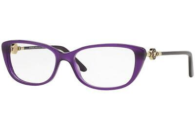 Versace 3206 5095 Purple & Gold Brille Glasses Eyeglasses Frames Size 54
