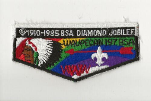 WAUPECAN OA LODGE 197 / DIAMOND JUBILEE  flap - Boy Scout BSA A132/7-2