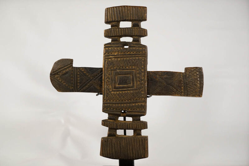 "Geometric Dogon Door Lock 15"" - Mali - African Art"