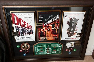Ocean's 11, 12 & 13  Shadowbox display frame signed memorabilia, original Props