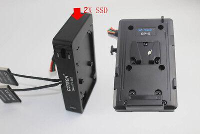 """BMD URSA MINI 4K 4.6K 2X CFAST To 2.5"""" Sata3 4T SSD Card+V-Mount Plate U.S"""