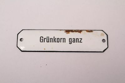Grünkorn Very Enamel Sign Colonial Pharmacy Grocer Medicine Approx. 1900