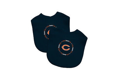 Chicago Bears 2 Pack Baby Bibs  Licensed Nfl Bib
